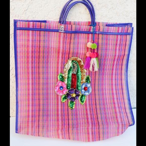 Mexican beach bag mexican market bag La catrina mercado bag Mesh bag Mexican mercado bag Mexican tote bag Mexican grocery bag